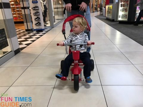 The Radio Flyer 4-in-1 trike is a great alternative to the baby stroller.