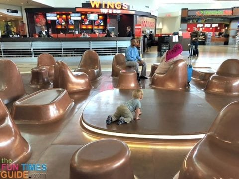 This is one of the Play Zones in the airport. It was a great way for us to pass some time during a layover.