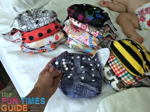 Some of the 'like new' used cloth diapers I purchased online.