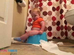 We love the Baby Bjorn potty, but my baby is not always so eager to use it during potty training.