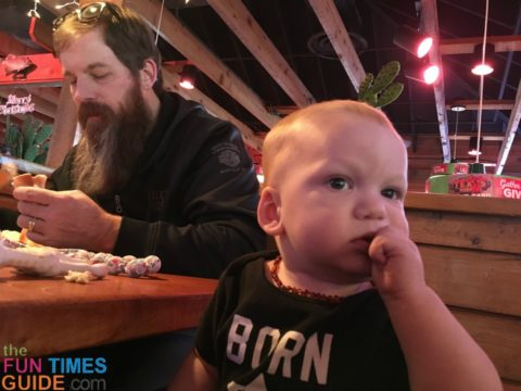 Baby led weaning at restaurants is going much better than I had imagined.
