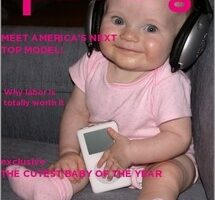 Put Your Newborn's Picture On The Cover Of A Baby Magazine!