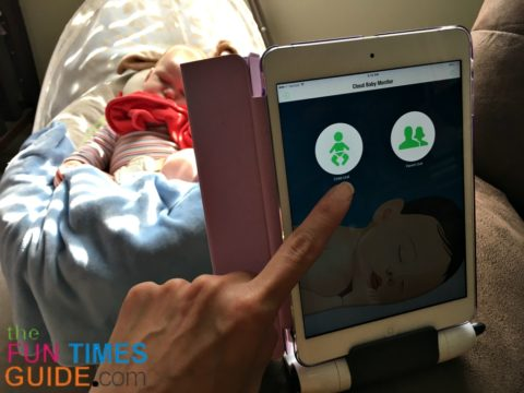 cloud baby monitor app - child unit