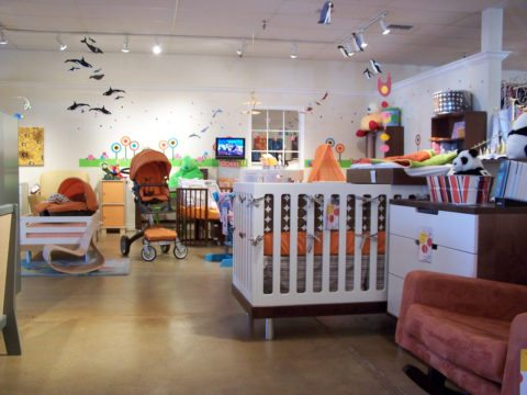 Shopping at an amazing baby furniture store!