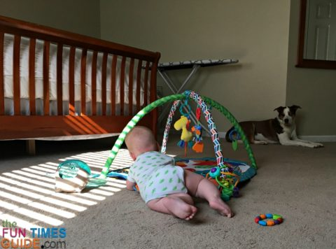 For tummy time, you need a baby play mat