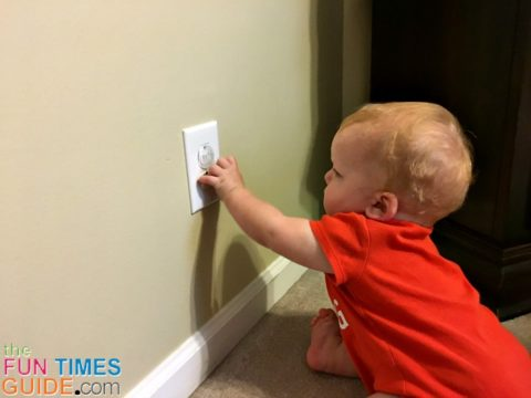 Buying child proof outlets is one of the most common ways to start toddler proofing your house.