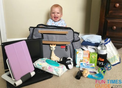 inside my diaper tote - the Skip Hop Grand Central Diaper Bag