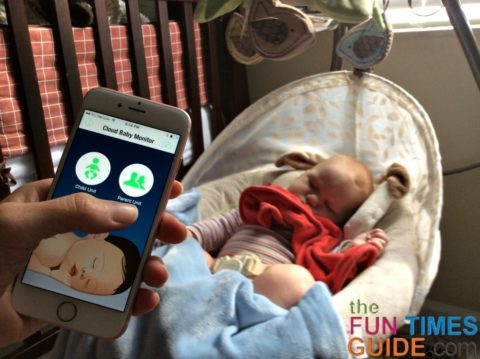cloud baby monitor app - parent unit