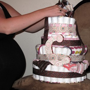 diy diaper cakes are popular baby shower gift ideas