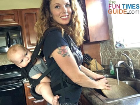 the ergobaby 4 position 360 carrier has an optional teething and drool pad -- which I just ordered