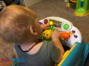 My son enjoys the lights and sounds on this Fisher Price Smart Stages Crawl Around Car.