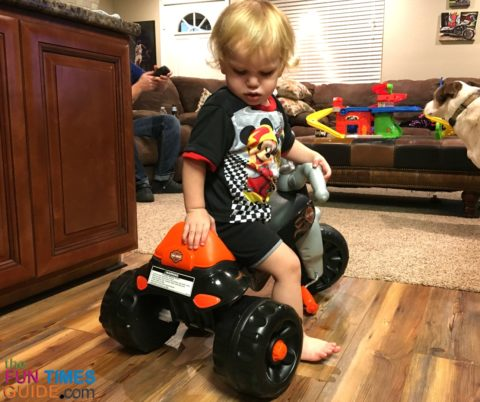 My son loves his new Harley trike.