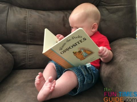 5 month old reading books