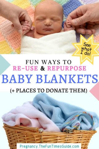 Fun ways to re-use and re-purpose used baby blankets (...plus places to donate them).