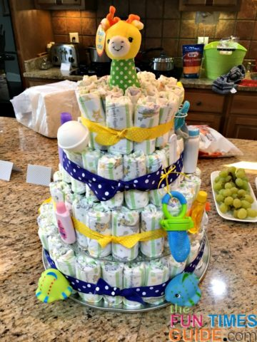 diy diaper cakes make great baby shower gifts
