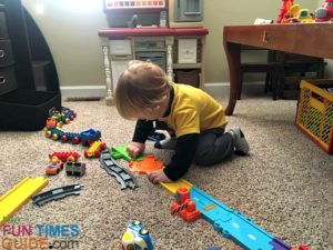 Both the VTech playsets and the vehicles require batteries to work - however, repetitive noise-making toys aren't for everyone.