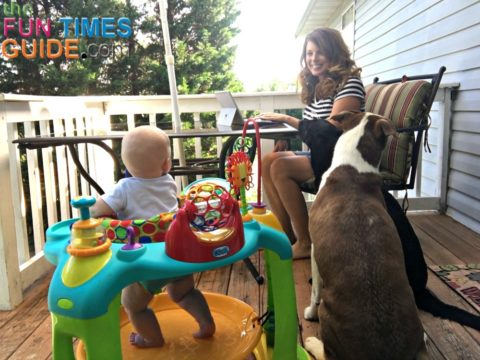 Mom and baby BOTH love the Oball baby activity center