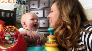Baby Activity Center Review: Mom & Baby Review The Oball Bounce O Bunch Activity Center