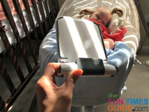 using a prepara tablet stand for a diy baby monitor