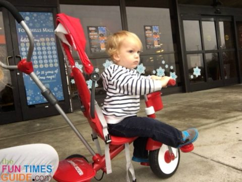 My 2-year-old loves his Radio Flyer 4-in-1- trike!
