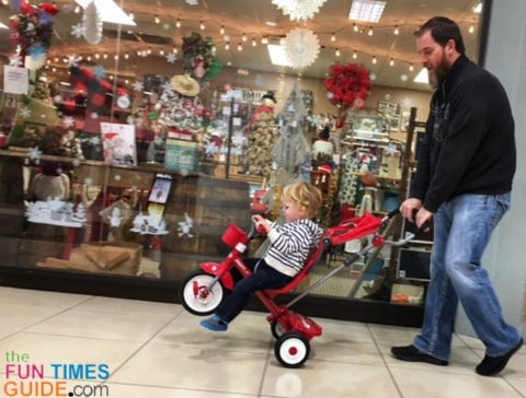 This Build-a-Trike by Radio Flyer is a good alternative for a stroller when we go on walks in the park or attend outdoor events.