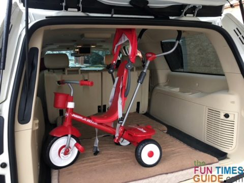 This toddler trike is lightweight and easy to load in & out of our SUV.