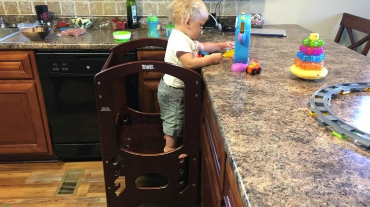 Mom & Toddler Review The Little Partners Learning Tower: See Our List Of Pros & Cons For This Solid Wood Learning Tower