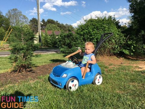 This is a great toddler ride on push car stroller!