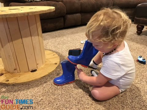With a 2-year-old who's always on the go, it's helpful to have additional shoes to match different outfits.