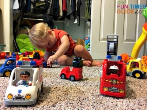 My son loves anything with wheels - he will play with cars for hours!