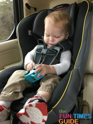 Even their own favorite toys can sometimes make great road trip activities for toddlers.