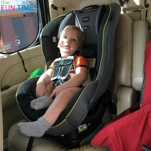 For our first toddler car seat, we chose the Britax convertible car seat because of its high safety rating.