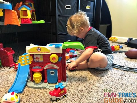 There are several different VTech playsets. This is the Fire and Rescue Command Center.