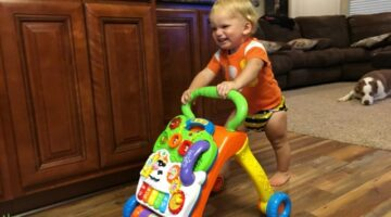 VTech Sit To Stand Learning Walker Review: See Why My Toddler Loves This Baby Push Walker!