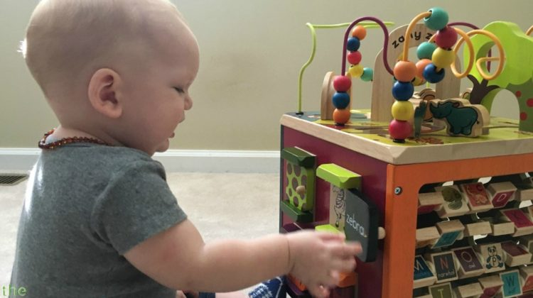 Baby & Mom Review The Zany Zoo Activity Cube – A Large Wooden Activity Cube For Toddlers