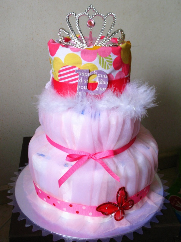 How To Make A Princess Diaper Cake