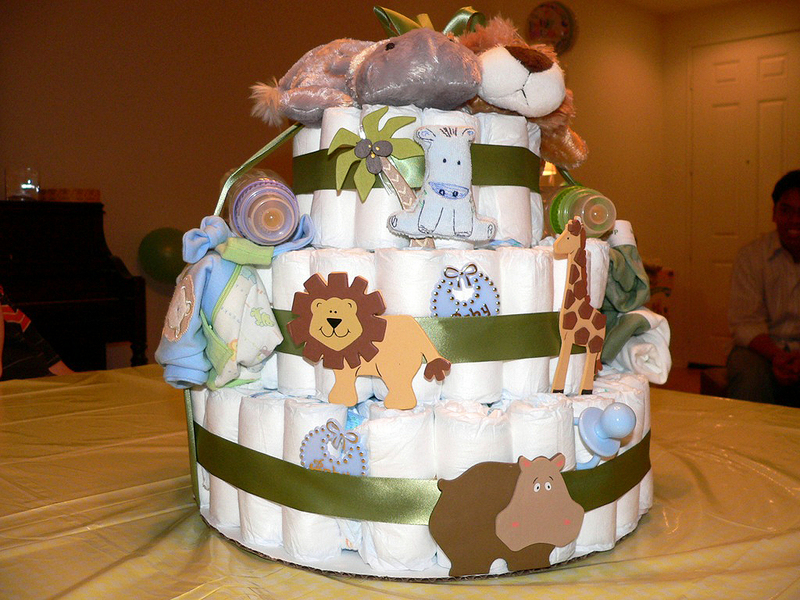 Diaper Cakes Make Great Baby Shower Gifts – How To Make Your Own!